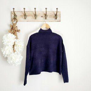 Derek Heart Navy Turtleneck Sweater Crop Top EUC